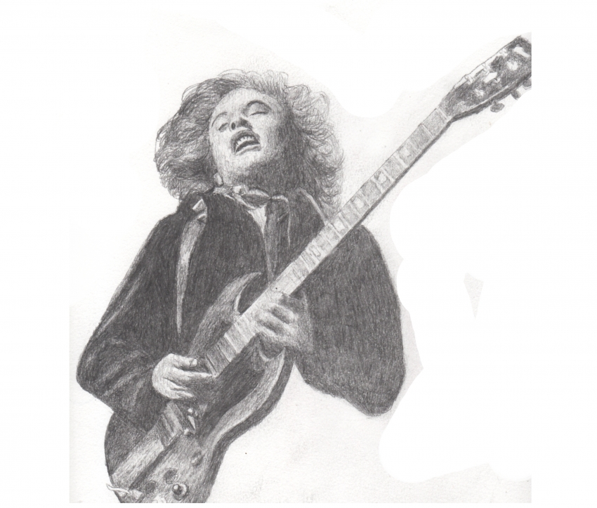 Angus Young by DHWallArtist